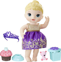 Hasbro Baby Alive Cupcake Birthday Baby Blonde Sculpted Hair