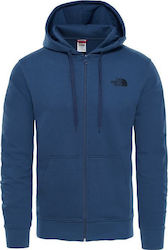 The North Face Logo Zip Hoodie Blue Wing Teal T0CΕP7N4L