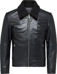LAMB - LEATHER JACKET ΤΗΣ SELECTED HOMME - 16059531 ΜΑΥΡΟ
