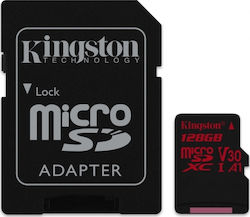 Kingston Canvas React microSDXC 128GB U3 V30 A1 with Adapter
