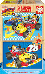 Mickey Roadster Racers Wood 2x25pcs (17234) Educa