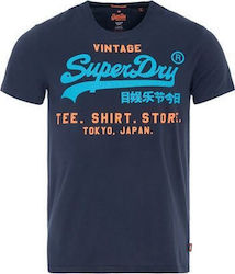 Superdry Shop Tri T-Shirt Navy