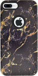 4-OK Marble Back Cover Χρυσό/Μαύρο (iPhone 8/7 Plus)