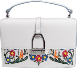 LA MARTINA WOMAN HANDBAG FIRULETE 41W133 L0002 B0621 OPTIC WHITE/SILVER
