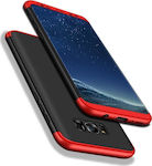 OEM GKK Luxury 360 Full Cover Black / Red (Galaxy S8)