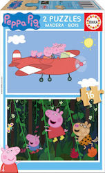 Peppa Pig Wood 2x16pcs (17157) Educa