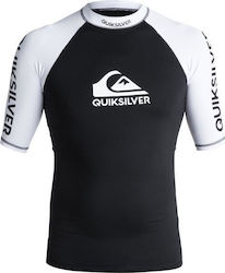 RASHGUARD QUIKSILVER On Tour - Short Sleeve UPF 50 Rash Vest Black/White