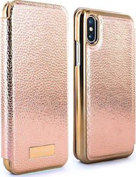 Ted Baker Fenela Mirror Folio Rose Gold (iPhone X)