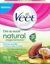 Veet Natural Inspirations with Natural Argan Oil Ζεστό Κερί Αποτρίχωσης  250ml 668ebb4d910