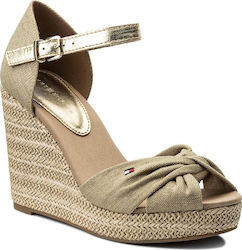 Tommy Hilfiger Iconic Elena Metallic Canvas Sand