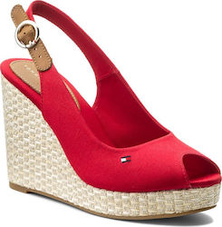 Tommy Hilfiger Iconic Elena Sling Back Tango Red