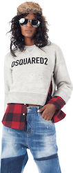 Dsquared Sweater & Shirt-Grey Melange (Φούτερ Γυναικείο Sweater Grey Melange - S75GU0112 S25148)