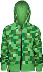 Jinx Minecraft Creeper No Face Zip-up Youth 11-12 Hoodie