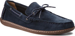Μοκασίνια CLARKS - Saltash Edge 261322607 Navy Suede
