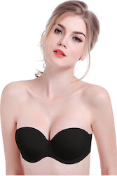 Strapless no seams Uwear 218 BLACK