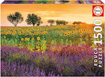Field of Sunflowers and Lavender 1500pcs (17669) Educa