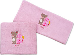 Lino Mouse & Cat Pink 2τμχ