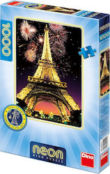 Night Eiffel Tower Neon 1000pcs (54122) Dino