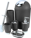 Bathroom Set 6 Piece Accesory-Black