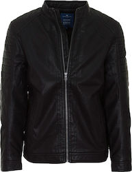 TOM TAILOR M 1ST 8070 FAKE LEATHER BIKER JACKET - 35553260010-2999 BLACK