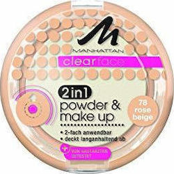 Manhattan Clearface 2 In 1 Powder & Make Up 78 Rose 11gr