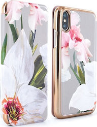 Ted Baker Mirror Folio Chatsworth Bloom Mid Gray (iPhone X)