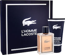Lacoste L`Homme Eau de Toilette 100ml & Shower Gel 150ml