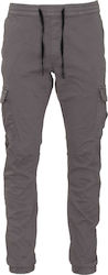 TOM TAILOR M 2ND 807N CARGOJOGGER STRETCH TWILL PANTS - 64552770912-2801 GREY