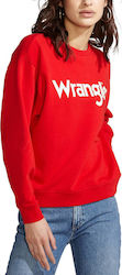 Wrangler Logo Women's Sweat W6072HQWO - FORMULA RED