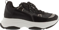 FUNKY BUDDHA W FBL111-08218 WOMAN SHOES ATHLETIC - FBL111-08218-BLACK BLACK