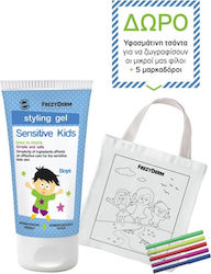 Frezyderm Sensitive Kids Styling Gel for Boys frezyderm Sensitive Styling Gel Boys 100ml & Υφασμάτινη Τσάντα Ζωγραφικής με 5 Μαρκαδόρους 100ml