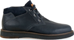 STEVE KOMMON LACE-UP SHOES H579V9621052 - ΜΠΛΕ ΔΕΡΜΑ