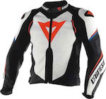 Dainese Super Speed D1 Leather White/Black/Fluo-Red