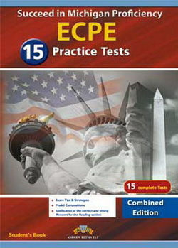 SUCCEED IN MICHIGAN ECPE 15 PRACTICE TESTS COMBINED EDITION MP3/CD