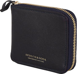 Scotch & Soda Classic Coin Wallet-Blue (Πορτοφόλια Ανδρικό Leather Black - 145732/0005)