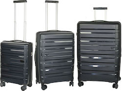 Travelite Kosmos 73949 Set x3 (Cabin - Medium - Large) Black