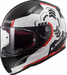 LS2 FF353 Rapid Ghost White / Black / Red