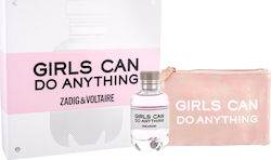 Zadig & Voltaire Girls Can Do Anything Eau de Parfum 90ml & Cosmetic Bag