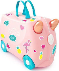 Trunki Βαλίτσα Παιδική Σκληρή με 4 Ρόδες Flossy The Flamingo Cabin