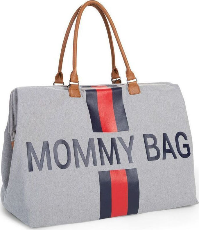 313445262b Προσθήκη στα αγαπημένα menu Childhome Τσάντα Αλλαγής Mommy Bag Grey Stripes  Red Blue