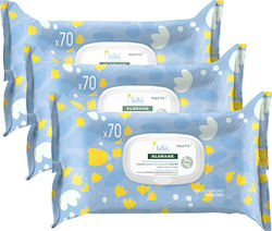Klorane Bebe Gentle Cleansing Wipes 210τμχ