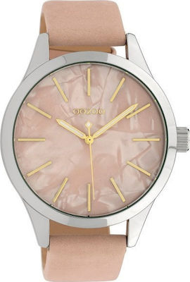 Oozoo Timepieces Xl Pink Leather Strap