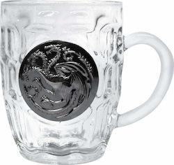 e5fab518845b Game Of Thrones - Targaryen Metallic Logo - Crystal Mug