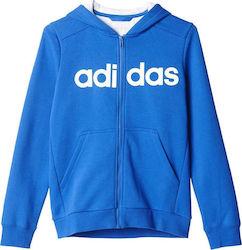 c6e43f458dd Adidas Essentials Linear Full Zip Hoodie AY8215