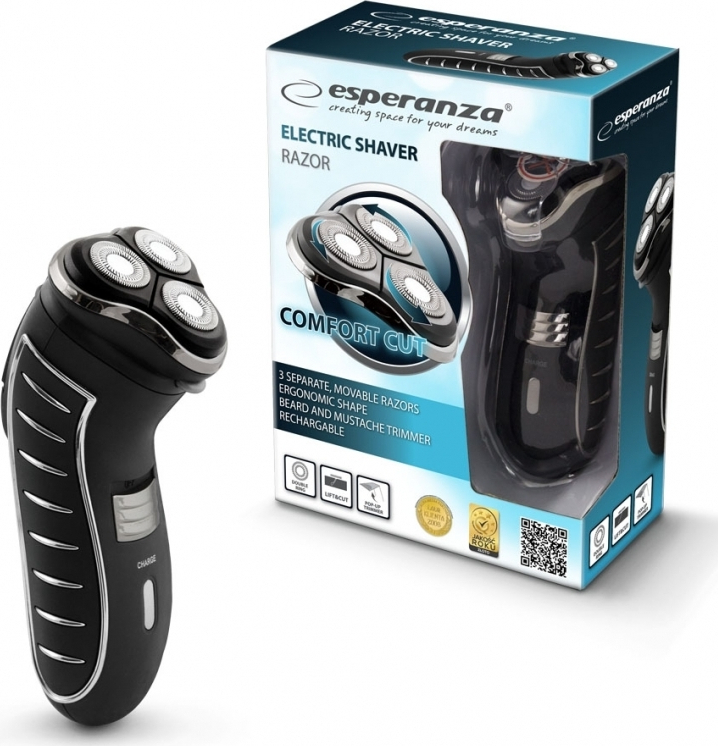 Esperanza Mens Shaver Razor EBG002K Ξυριστική Μηχανή Προσώπου Επαναφορτιζόμενη (EBG002K) - Πληρωμή και σε έως 36 Δόσεις!!!