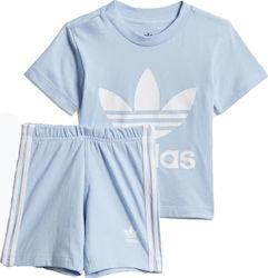 55b05fe4de13 Adidas Originals Kid s Trefoil Shorts Tee Set DV2808