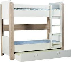 9e21c53415f Κουκέτα Smart με Συρόμενο Κρεβάτι Κουκέτα Λευκό/Μπεζ με Συρόμενο Κρεβάτι