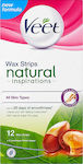 Veet Wax Stripes Natural Inspirations 12τμχ