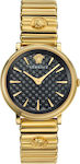 Γυναικείο Ρολόι Versace V-Circle VE8101519 Gold Black