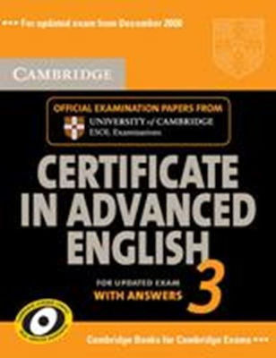 CAE 3 PRACTICE TESTS SELF-STUDY PACK 2009 ED.